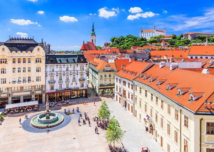 Hlavné námestie, Bratislava's main square