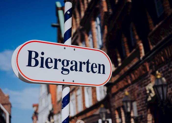 Biergarten sign, Munich