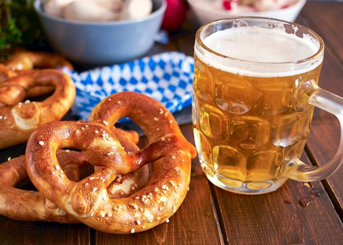 Pretzels and beer, Munich