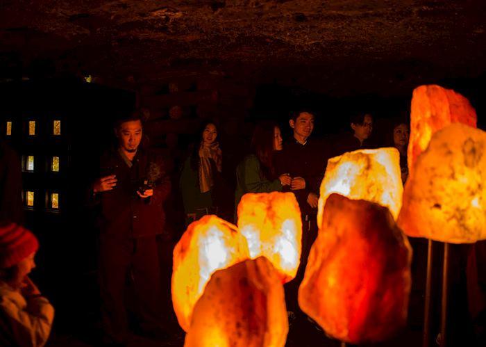 Hallstatt salt mine cave
