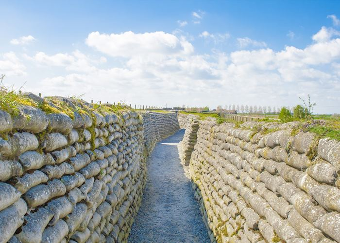 World War I trenches, Diksmuide, Belgium