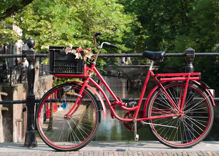 Bicycle over a canal in Utrecht