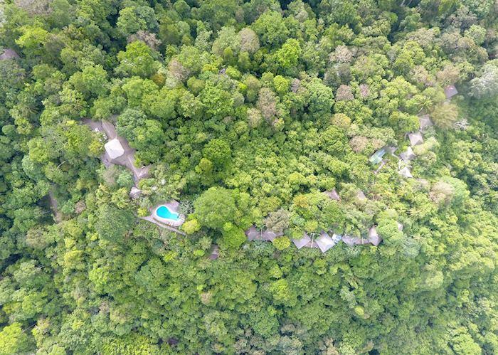 Aerial view of Lapa Rios