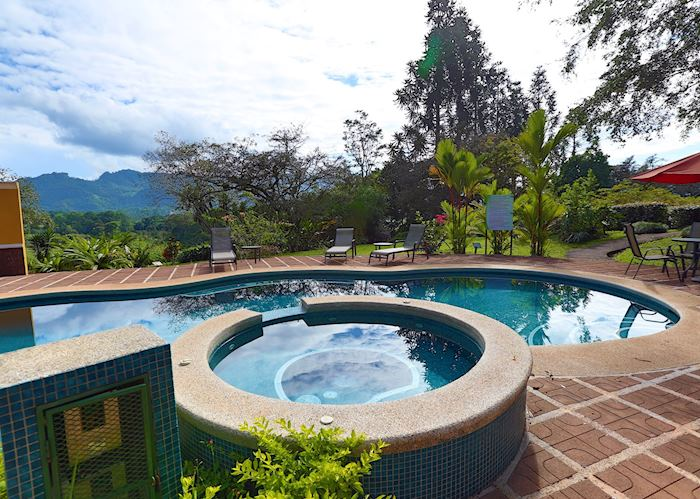 The pool at Villa Florencia, Turrialba