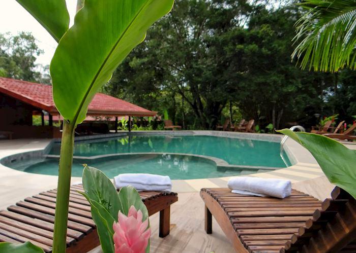 The pool at Natural Lodge Cano Negro