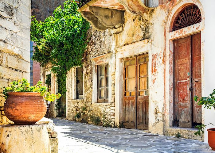 Historic streets of Halki, Naxos