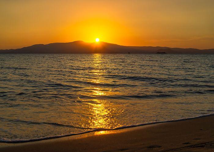 Sunset over Agios Prokopios, Naxos