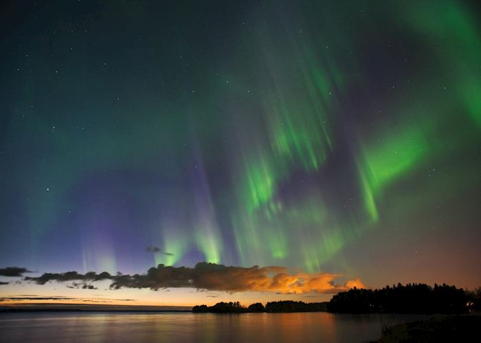 Northern lights above the Lule River
