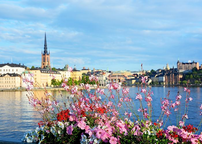 Stockholm view of Gamla Stan in spring