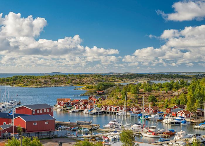 Fishing village in Gothenburg archipelago