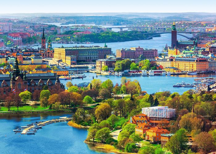Stockholm islands from above