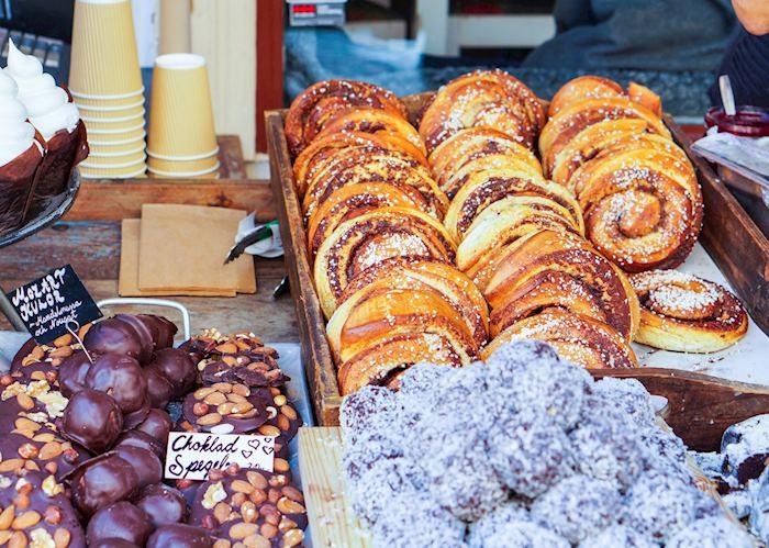 Cinnamon buns in Stockholm