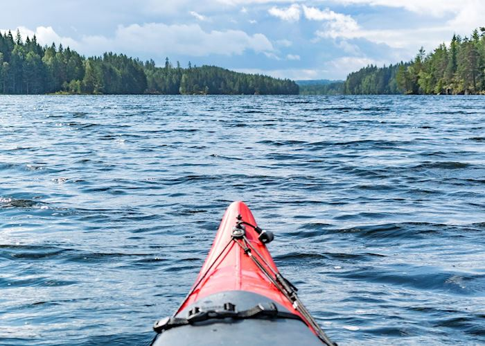 Exploring the Lule River by kayak