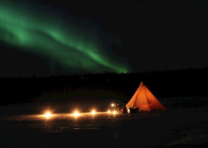 Dine under the northern lights