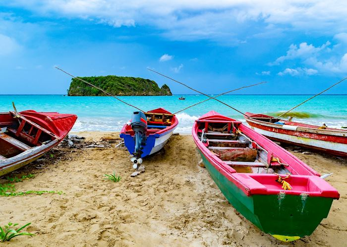 Jamaican fishing boats