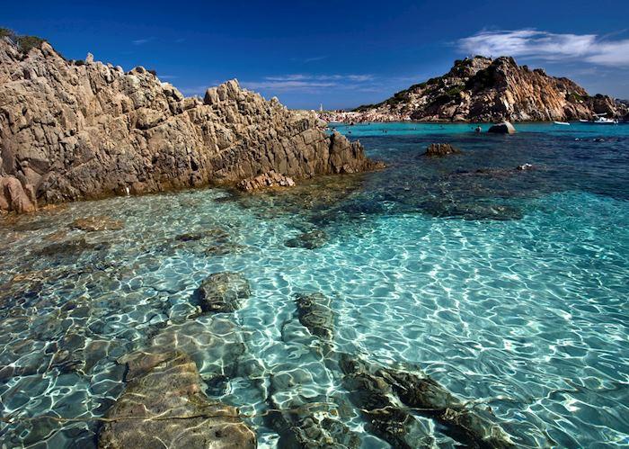 Clear waters, La Maddalena islands