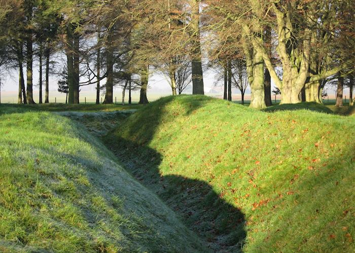 WWI trench from Battle of the Somme