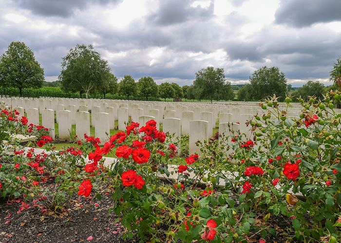 Hooge Crater WWI cemetery, Ypres