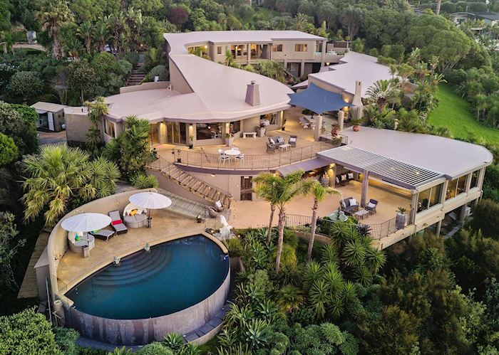 Aerial view of Delamore Lodge