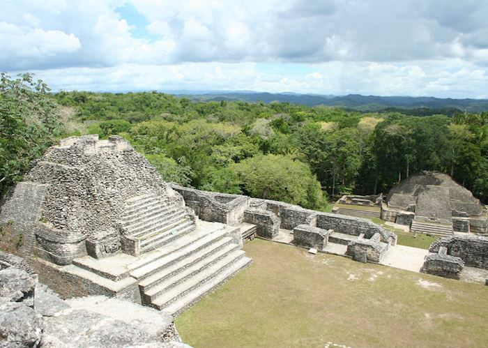 The View from on top of Caana, Caracol's and Belize's Tallest Buliding