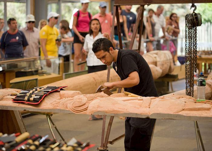 Maori carving, Maori Art & Craft Institute, Rotorua