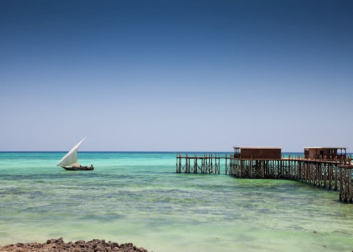 Jetty bar at Essque Zalu, Zanzibar Island