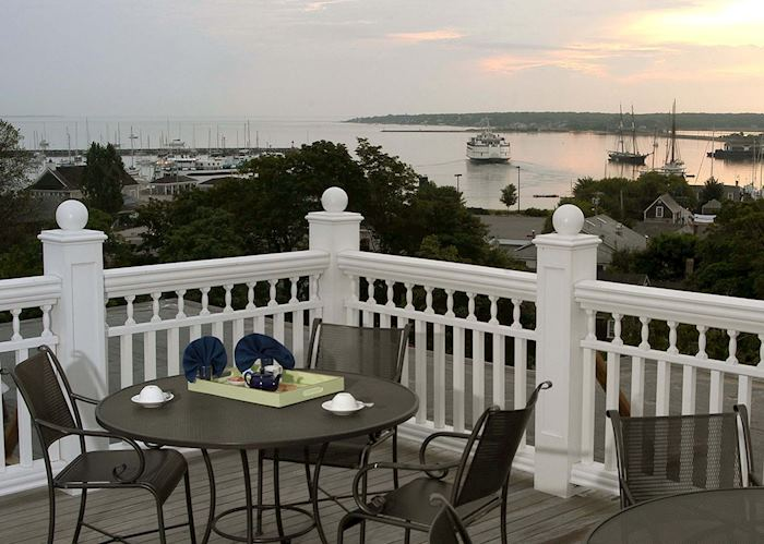 View from the deck, Mansion House, Martha's Vineyard