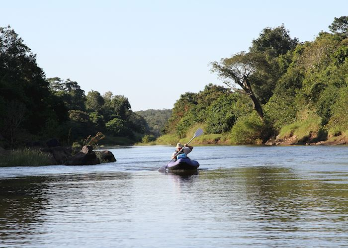 Canoeing down the Bua River