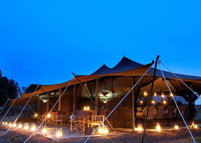 Mess tent and lounge, Porini Lion Camp, Masai Mara