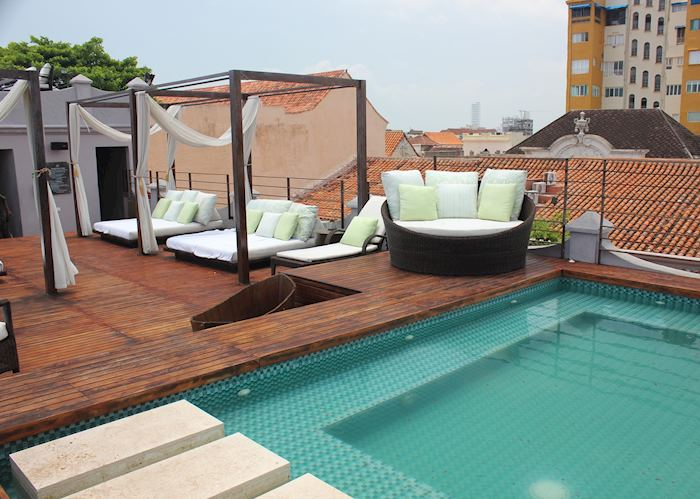 Roof terrace and jacuzzi, Hotel Ananda, Cartagena