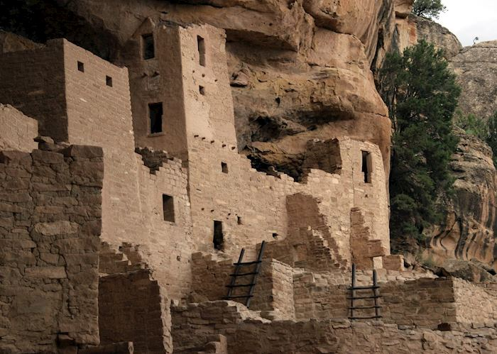 Ancestral Puebloan ruins at Mesa Verde National Park