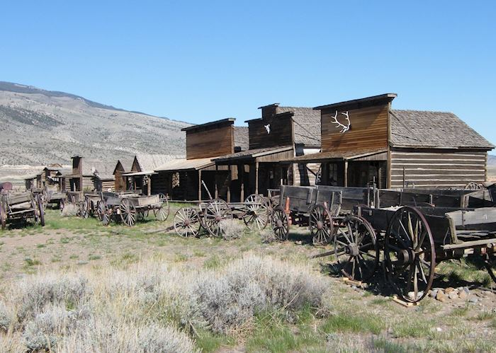 Old buildings at Old Trail Town Historical Museum, Cody