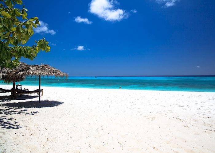 The beach at Manta Resort, Pemba Island