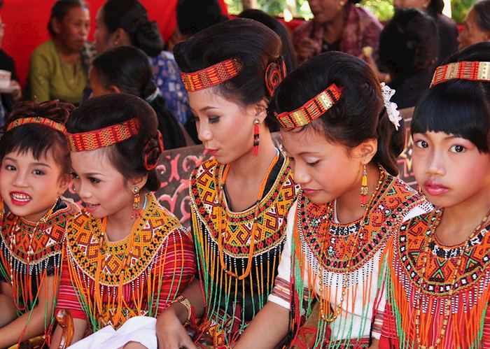 Traditional Dress at a Funeral Ceremony