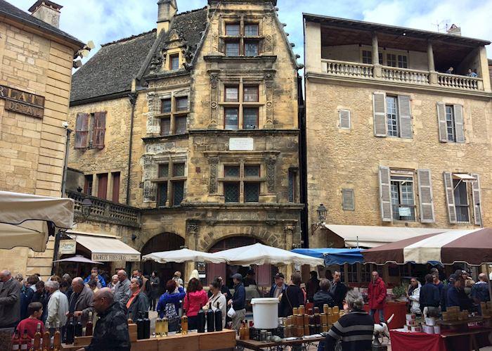 Local market in Sarlat-la-Canéda