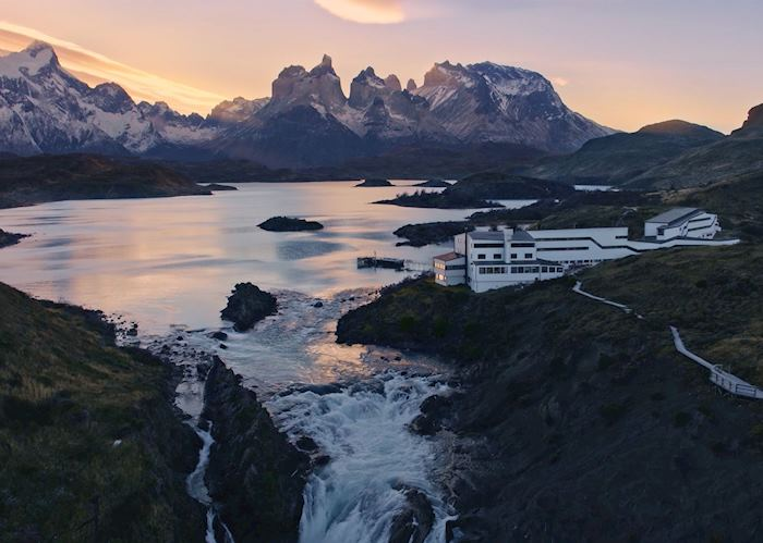 Sunset at the Explora Patagonia