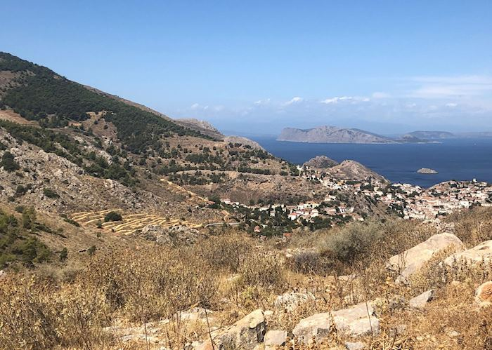 Views from hiking trail, Hydra
