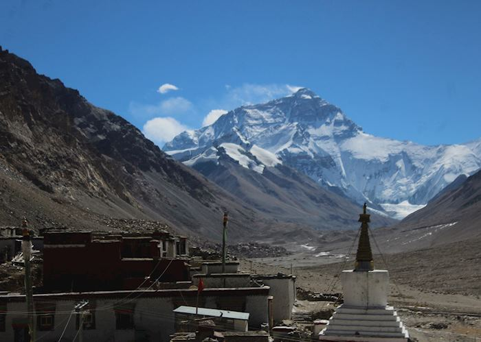 Mount Everest from the Rongbuk Monastery