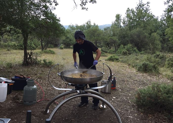 Truffle cooking demonstration, Central Greece
