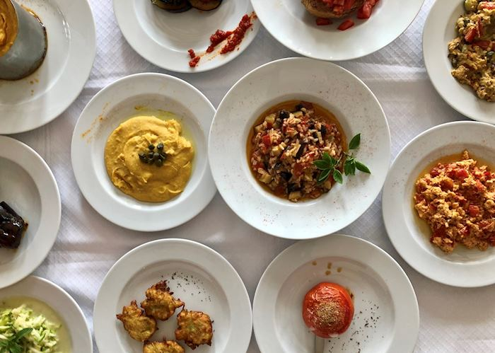Meze dishes, Milos