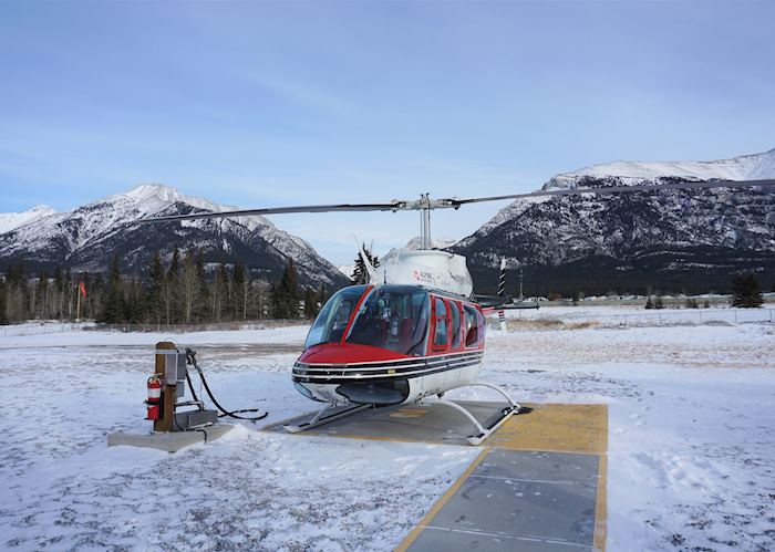 Alpine Helicopter Tours helipad near Canmore, Alberta