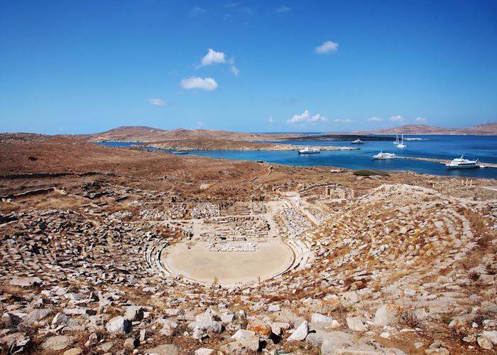Ancient theatre, Delos