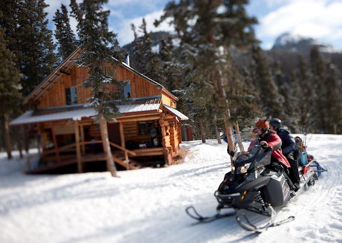 Snowmobiling near Marsh Lake, Yukon