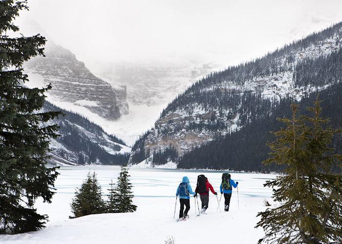 Snowshoeing near Banff