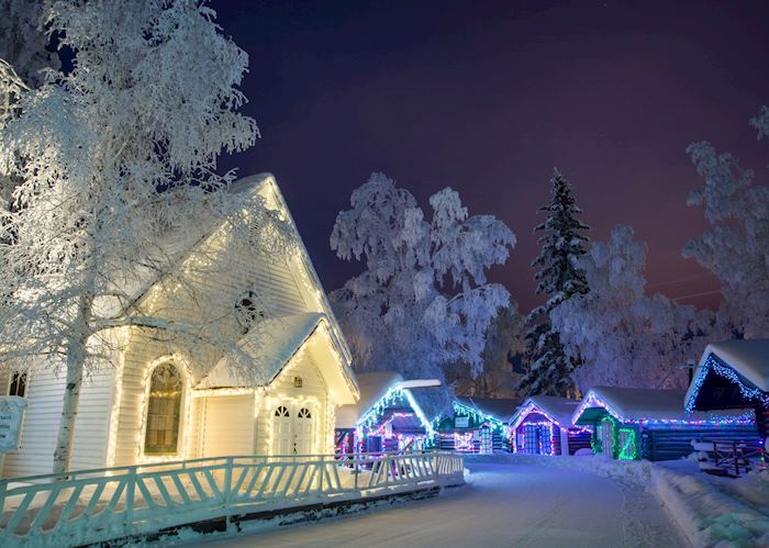 Christmas Lights in Pioneer Park,Fairbanks, Alaska