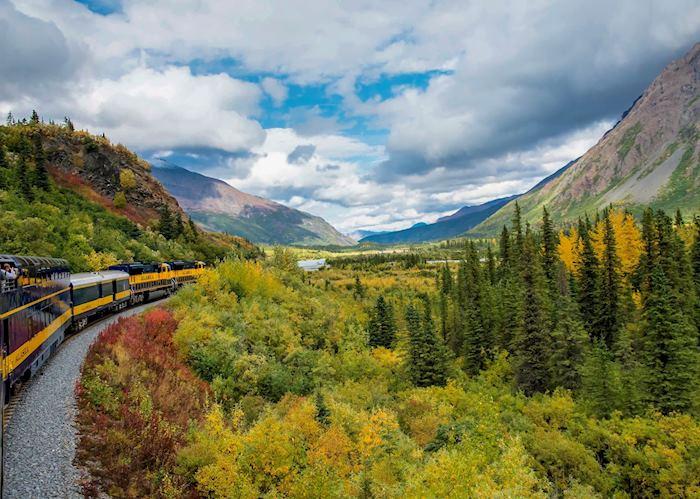 Landscape views from the Alaska Railroad