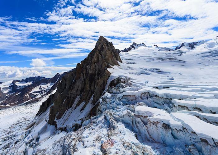 Flight-seeing trip over the Hayes Glacier, near Winterlake Lodge, Winter Lake