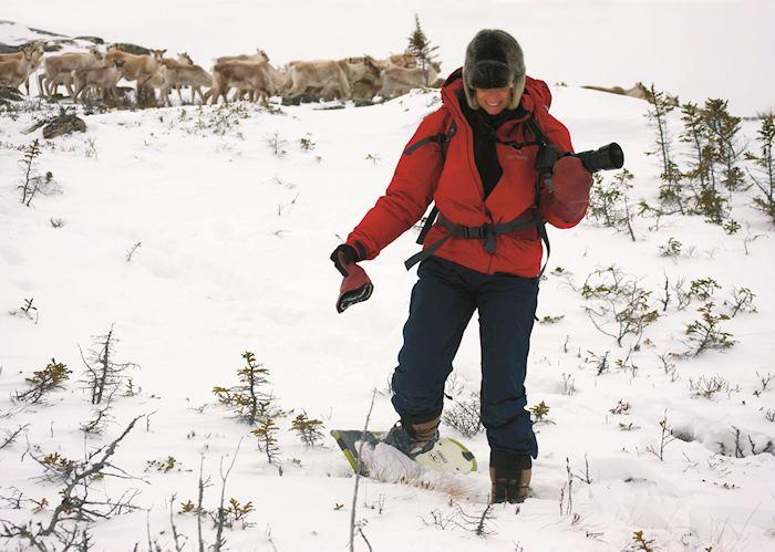 Snowshoeing Lac a L'Eau Claire, Saint Alexis des Monts