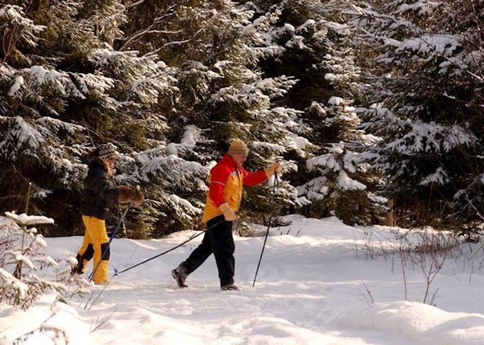 Cross-country skiing at Lac a L'Eau Claire, Saint Alexis des Monts
