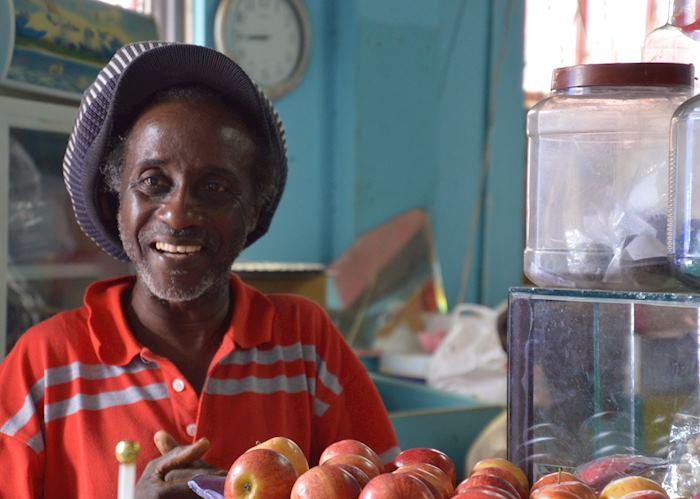 Fruit Vendor at Bridgetown Market